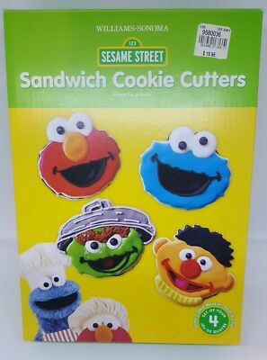 Williams Sonoma SESAME STREET Sandwich Cookie Cutters NEW