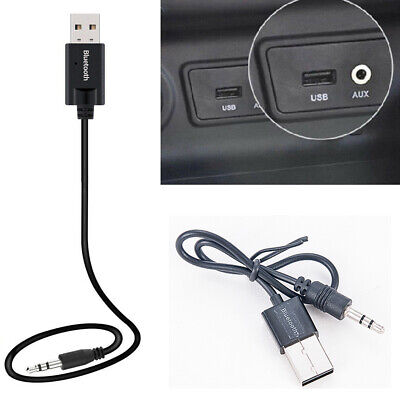 USB Wireless Bluetooth Receiver 3.5mm AUX Audio Stereo Music Mini Car Adapter