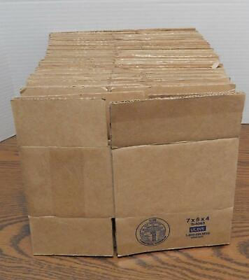 """25 U-Line 200# Test 7"""" X 5"""" X 4"""" Corrugated Boxes S-4063 USED / Brown"""