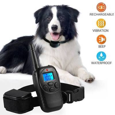 Anti Bark Collar Pet Dog Train Collar With LCD Remote Control Rechargeable