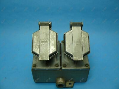 Crouse Hinds CPS152-112 Explosion Proof Pin & Sleeve Receptacle 20 Amp Duplex
