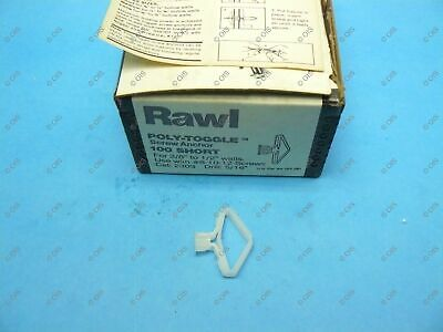 "Rawl Powers 2303 Plastic Poly-Toggle Screw Anchor Short 3/8"" Wall Qty 100"