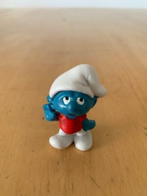 Smurfs Snappy Smurfling 20401 Smurf Yellow Shirt Vintage Figure Toy PVC Figurine