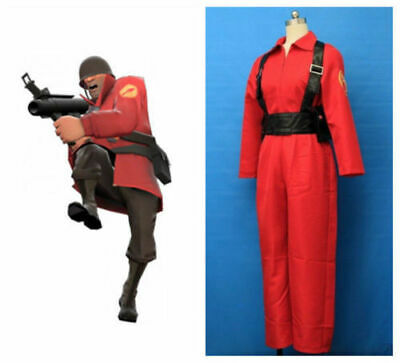 Details about  /Team Fortress 2 Red Spy Cosplay Costume