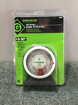 NEW! Greenlee 1895 Protractor with Magnetic Base