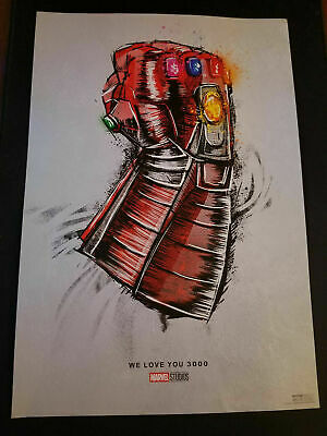 "Avengers: Endgame Movie Poster We love you 3000 Print size 11x17"" 16x24"" 24x36"""