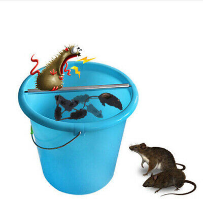 New Rolling Mouse Trap Bucket Pest Roller Rats Stick Rodent Spin Mousetrap