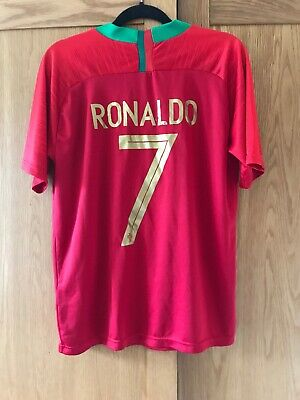 Ronaldo 7 Portugal Football Shirt Large 2018 World Cup Red Vintage Retro Soccer