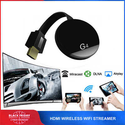 4ème génération 1080p HDMI Digital Streamer Digital Media Black pour Chromecast