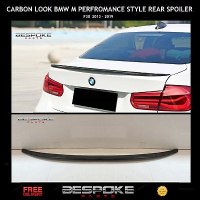 GLOSS BLACK F30 F80 3 SERIES BOOT SPOILER M3 PERFORMANCE ABS WITH 3M TAPE
