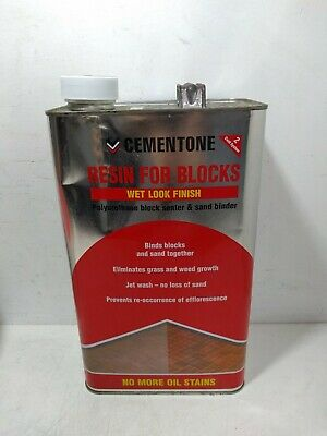 Bostik Cementone Resin For Blocks Sand Binder & Block Sealer Wet Look Finish 5L