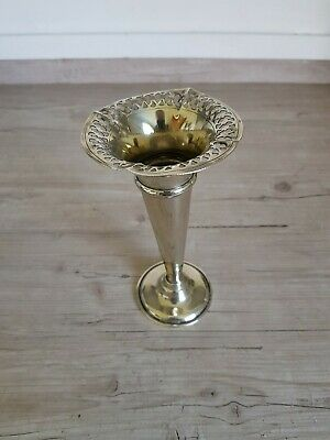 Vintage Retro EPNS Bud Vase/Candle Holder ~ Roughly 6 inches High.
