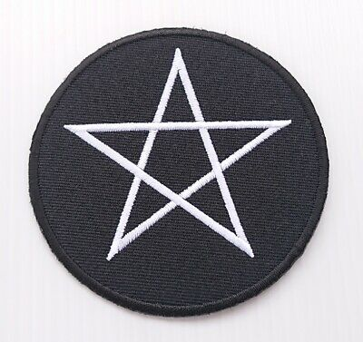10x Satanic pentagram pentacle occult wicca pagan applique iron on patch