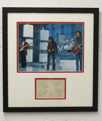The Who Signed Display Roger Daltrey Pete Townshend John Entwistle Keith Moon