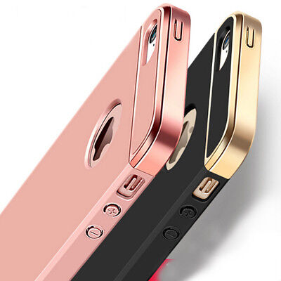 For iPhone SE 5 5S Case Ultra Thin Chrome Acrylic Hybrid Back Shockproof Cover