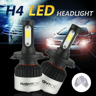Nighteye H4/9003/HB2 72W LED Phare de voiture Headlight Ampoule 9000LM 6500K HID
