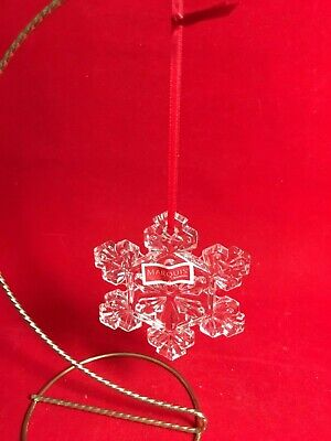 Waterford Marquis Clear Crystal Snowflake Ornament
