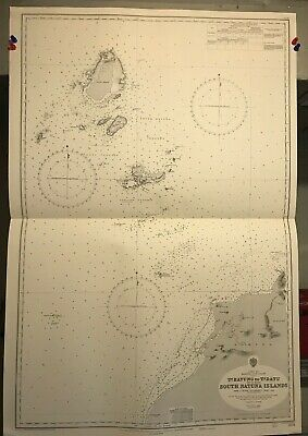 China Sea Navigational Chart / Hydrographic Map # 2104 Borneo Sarawak Panjang