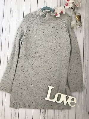 Toast Size XL 16 18 20 grey marked chunky knitted jumper dress wool vgc cosy