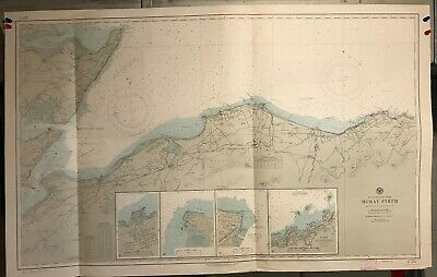 Scotland East Coast Navigational Chart / Hydrographic Map # 4679 Moray Firth