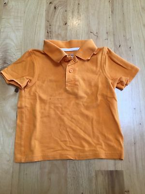 Boys Orange Short Sleeve Polo Shirt Top 100% Cotton Jumping Beans Size 3T 3