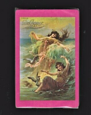New Sealed Deck DR PEPPER 54 Pinup Playing Cards Sexy Sea Nymphs Vintage Ocean