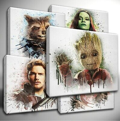 Guardians of the Galaxy paint splatter CANVAS Wall Art Picture Prints