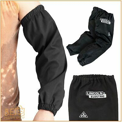 Black Flame Resistant Welding Sleeves Work Arms Heat Spatter Protect 21'' Length