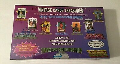 Vintage Cards Treasures Baseball Box 1952 Topps Pack Search Mantle