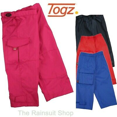 Togz Kids Waterproof Outdoor Rain Over Trousers Childs Boys Or Girls