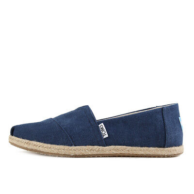 TOMS Womens Classics Navy Washed Canvas Rope Sole Schuhe Espadrilles Blau
