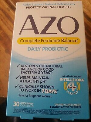 AZO Complete Feminine Balance Women's Daily Probiotic   Clinically Proven 2/21