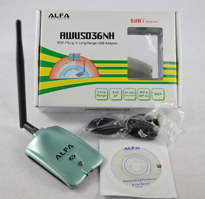 ALPHA AWUS036NH Ralink3070L Network Card 2000MW WiFi USB Adapter with 5dbi