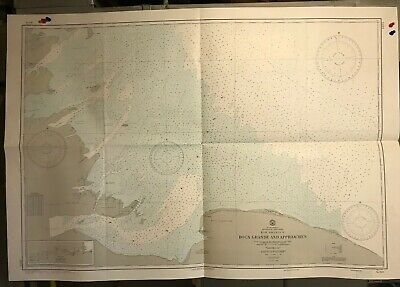 Venezuela East Coast Navigational Chart / Hydrographic Map # 1623, Boca Grande