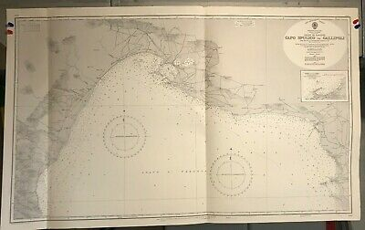 Italy South Coast Italian Navigational Chart / Hydrographic Map # 1641 Taranto