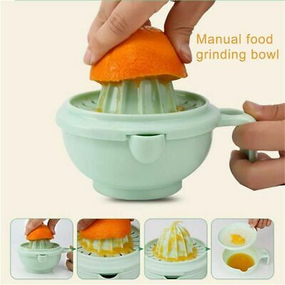 5X(9 sets of baby food supplement grinder manual food grinding bowl baby pu Y2D2