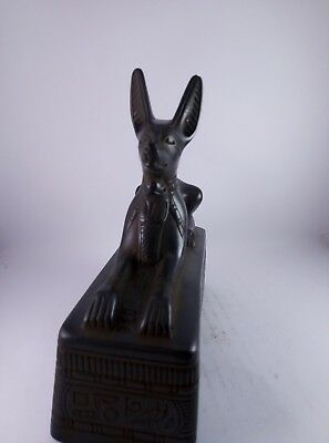 RARE ANTIQUE ANCIENT EGYPTIAN Statue god Anubis Stone 1500 Bc
