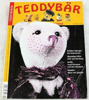 TEDDY BAR MAGAZINE VINTAGE - ISSUE 1/2009 - 74 PGS with 2 FABULOUS BEAR PATTERNS