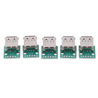 5Pcs Type A Female Usb To Dip 2.54Mm Pcb Connector Usb Pcb Board Connecto