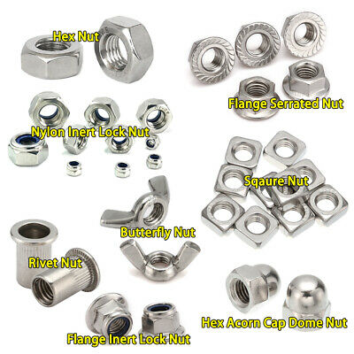 Hexagon Hex Nut Nylon/ Flange Insert Lock Nut Square Nut Cap Nut Metric