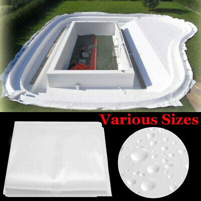 Fish Pond Liner Gardens Pools EVA Membrane Reinforced Landscaping Any Size White
