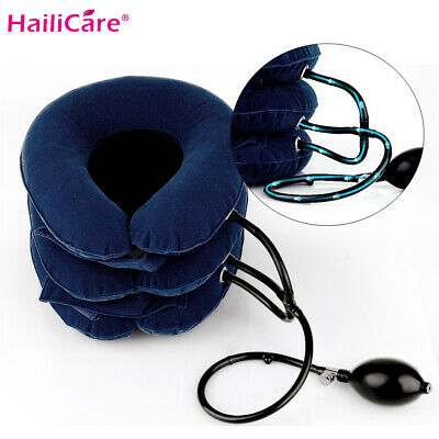Cervical Neck Traction Device Collar Brace Support Pain Relife Stretcher Therapy