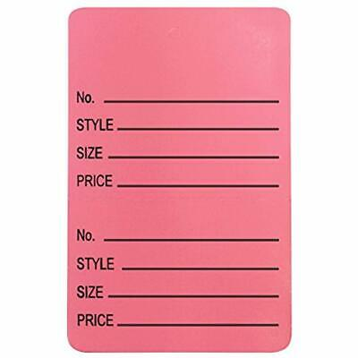 867ac5cda0ec TWO-PART NUMBER STYLE, Size & Price Perforated Coupon Tags - 1.25