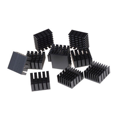 10 Pcs 20X20X10Mm Heat Sink Heatsinks Cooling Aluminum Radiator FE