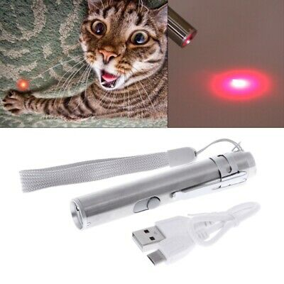 USB Rechargeable 3 in 1 Cat LED Chase Toys Laser Pointer Pen Flashlight Pen