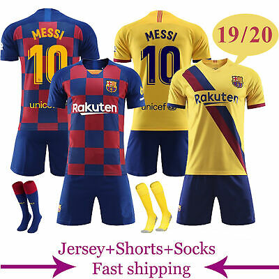 sports shoes 95d88 31764 18-19 FOOTBALL KITS MESSI 10 Soccer Short Sleeve Jersey 3 ...