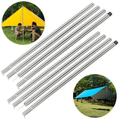 2 x 2M Adjustable Universal Telescopic Steel Tent Poles Awning Camping Portable