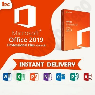 Ms Office  Pro  2019  Plus 32 / 64 Bit  License Original  Genuine Activation Key
