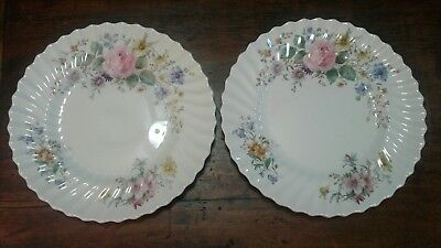 Royal Doulton Arcadia Pattern Dinner Plates Set of 2 Green Stamp
