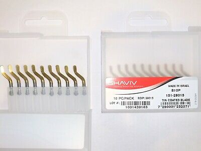 Shaviv 29015 B10P Deburring Blades HSS TiN Coated 10 Pack